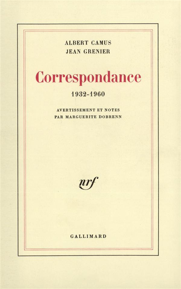 Correspondance, (1932-1960)