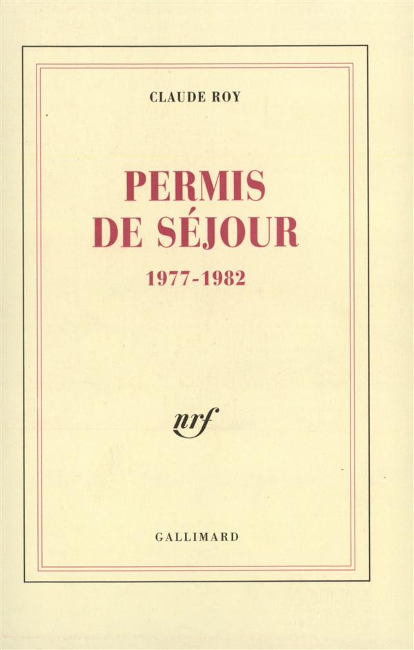 PERMIS DE SEJOUR - (1977-1982)