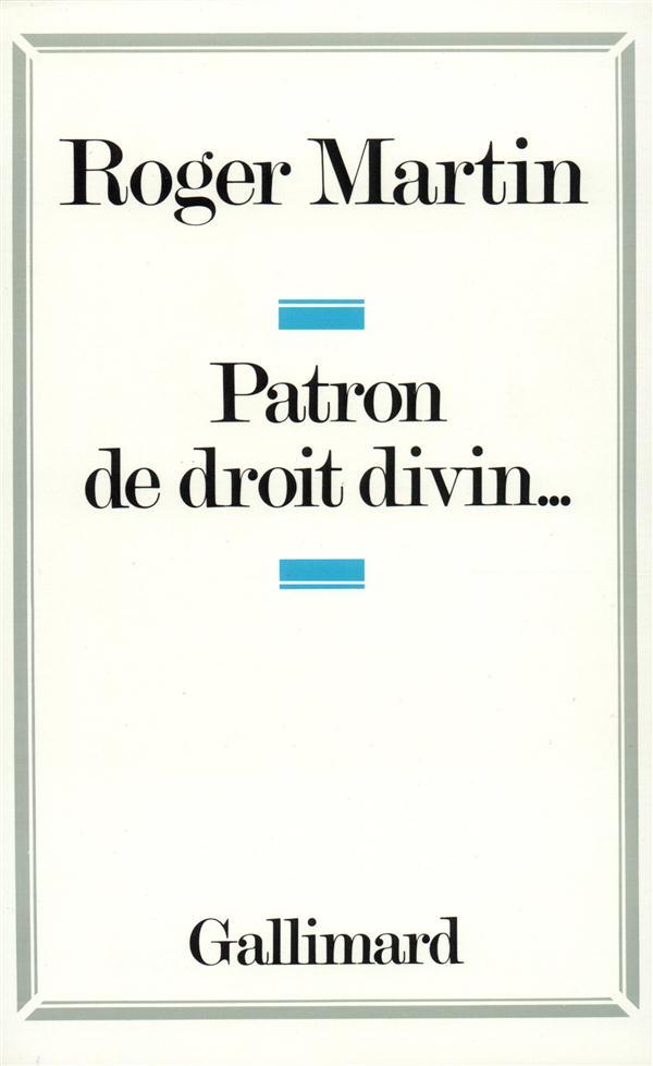 PATRON DE DROIT DIVIN