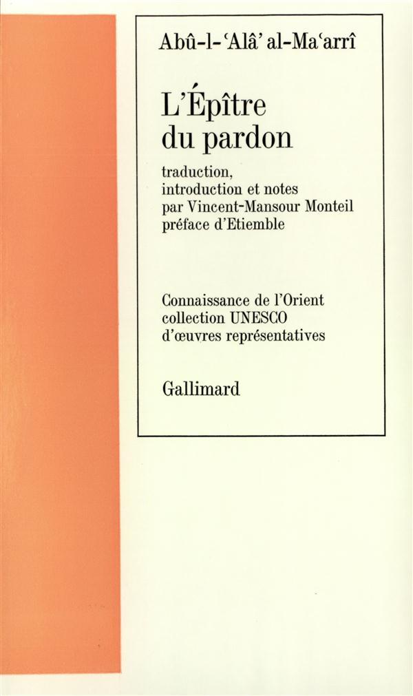 ARABE - T56 - L'EPITRE DU PARDON