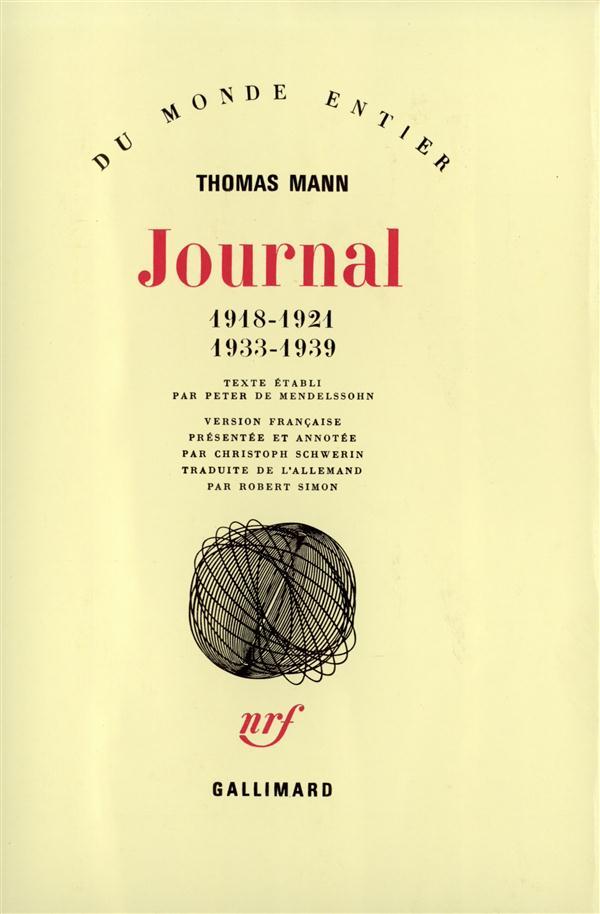 JOURNAL 1918-1921, 1933-1939 - 1918-1921 - 1933-1939)