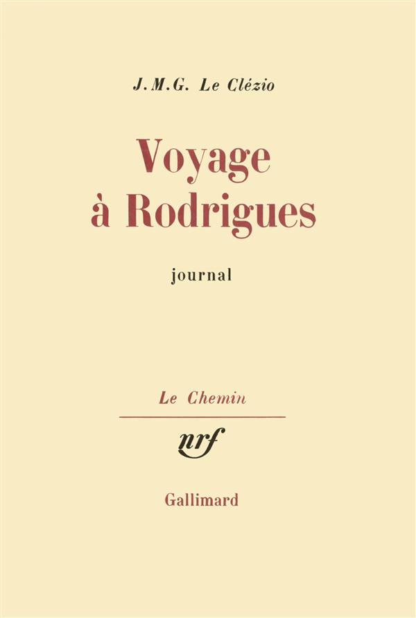 VOYAGE A RODRIGUES - JOURNAL