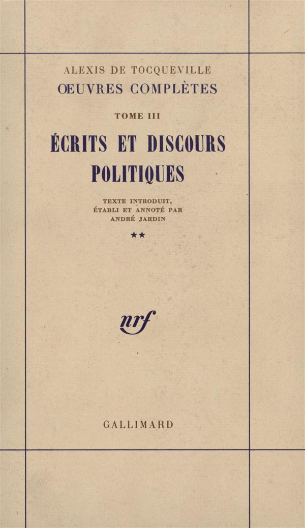 ECRITS ET DISCOURS POLITIQUES