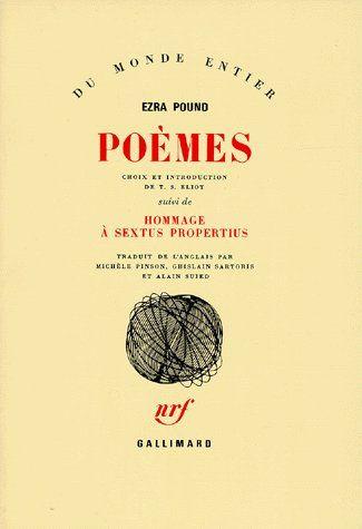 POEMES - [SUIVI DE] HOMMAGE A SEXTUS PROPERTIUS