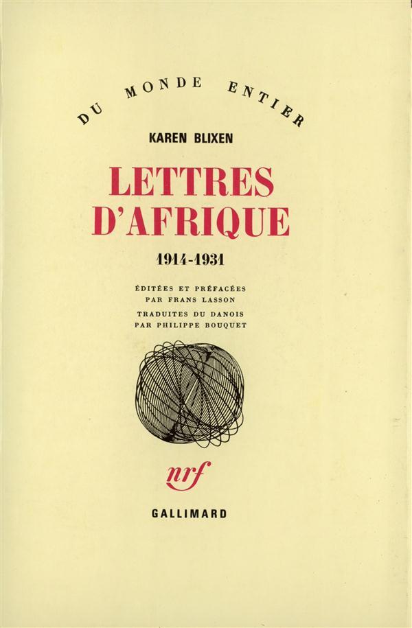 LETTRES D'AFRIQUE - (1914-1931)