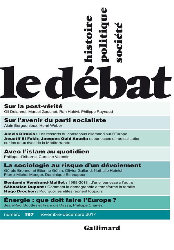 LE DEBAT N197 (NOVEMBRE-DECEMBRE 2017)