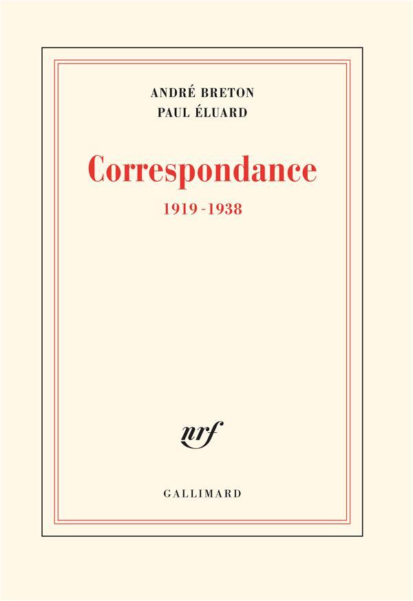 CORRESPONDANCE - (1919-1938)