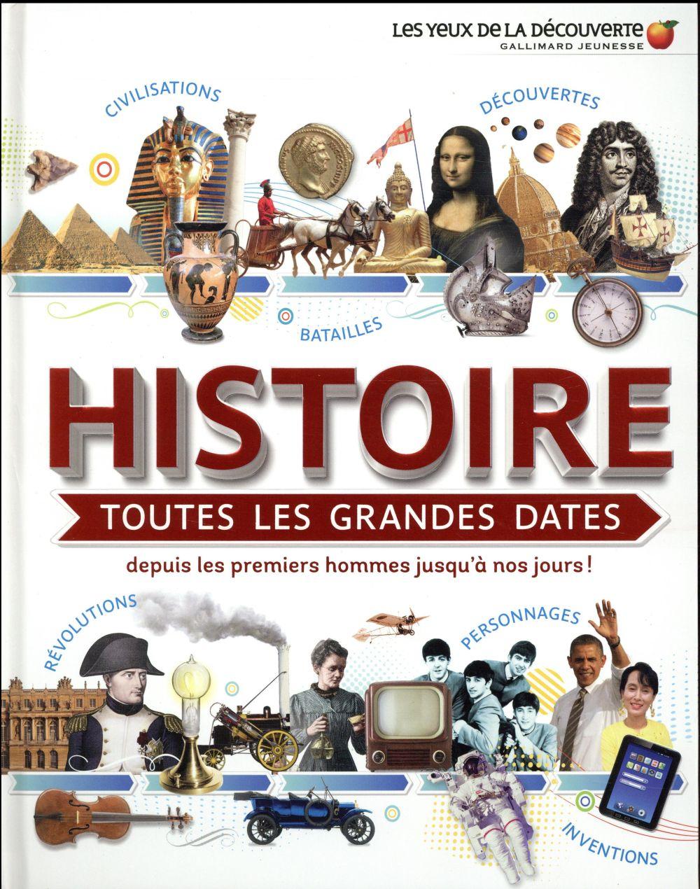 HISTOIRE : TOUTES LES GRANDES DATES - DEPUIS LES PREMIERS HOMMES JUSQU'A NOS JOURS !