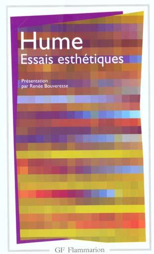 ESSAIS ESTHETIQUES