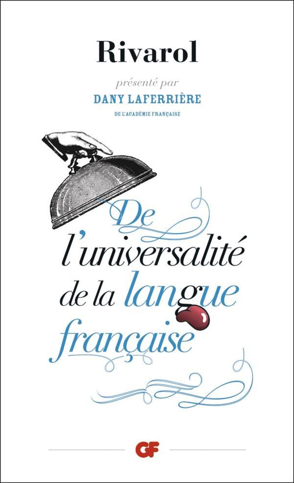 DE L'UNIVERSALITE DE LA LANGUE FRANCAISE
