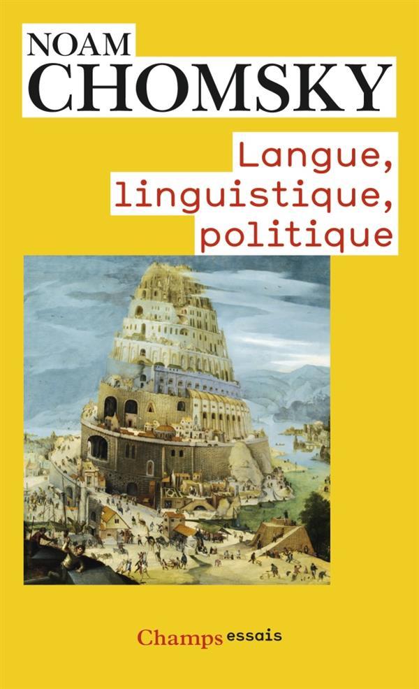 LANGUE, LINGUISTIQUE, POLITIQUE