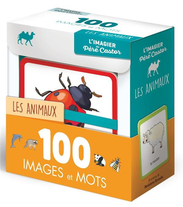 L'IMAGIER DU PERE CASTOR EN 100 IMAGES ET MOTS - LES ANIMAUX