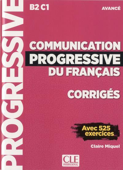 CORRIGES COMMUNICATION PROGRESSIVE AVANCE NC