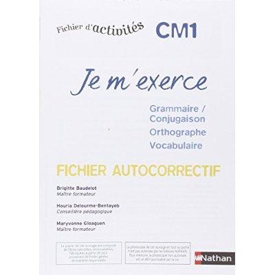 JE M'EXERCE-AUTOCORRECTIF- CM1