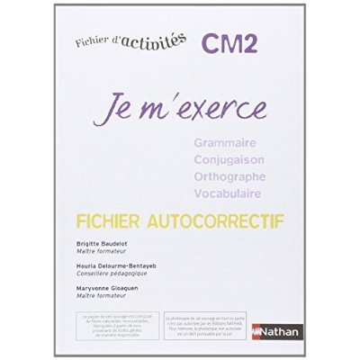 JE M'EXERCE FICH AUTOCOR CM2
