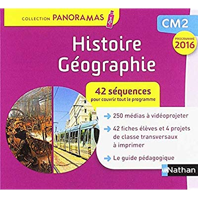 PANORAMAS - HISTOIRE GEOGRAPHIE - CLE USB CM2 2019