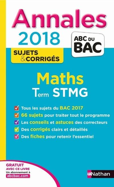 ANNALES BAC - MATHS STMG - SUJETS