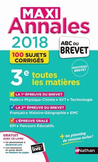 MAXI ANNALES BREVET 2018