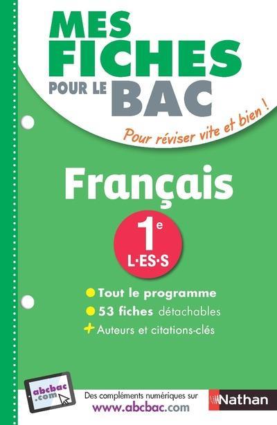 MES FICHES ABC DU BAC FRANCAIS 1ERE L-ES-S