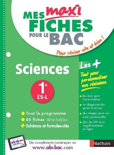 MES MAXI FICHES ABC SCIENCES 1ERE ES-L