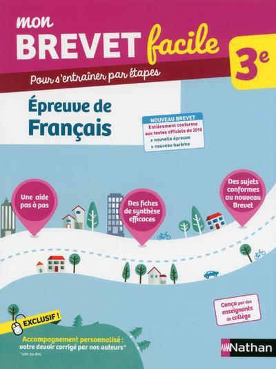 MON BREVET FACILE - EPREUVE DE FRANCAIS 3EME