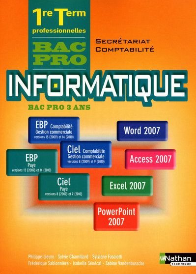 INFORMATIQUE 1E/TERM BPRO (S/C