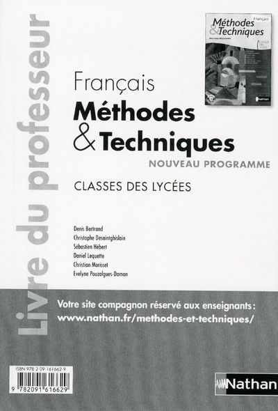 FRANCAIS (M ET T) LYCEES PROF