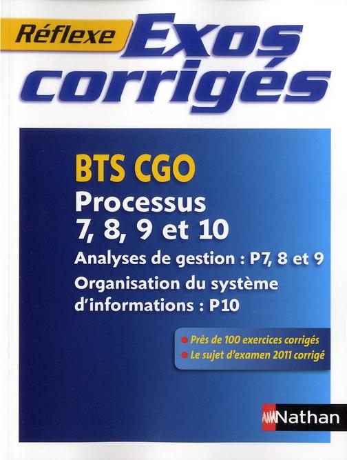 EXOS CORRIGES BTS CGO P7 A P10