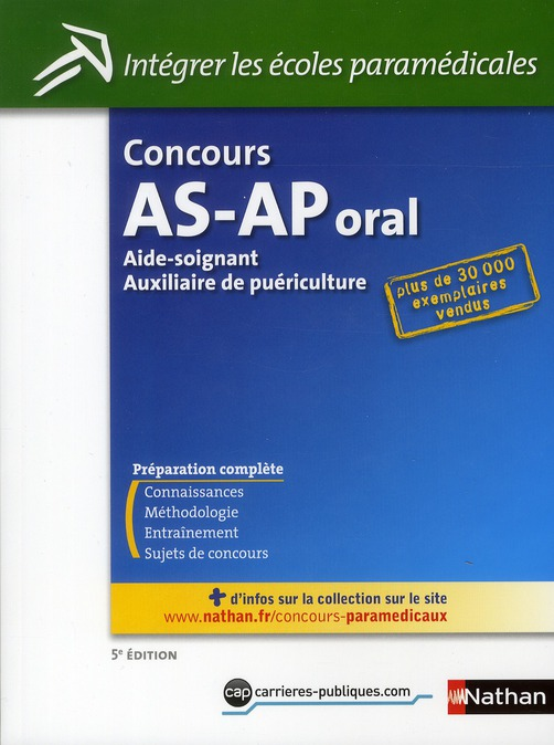 CONCOURS AS-AP ORAL N15 INTEGR