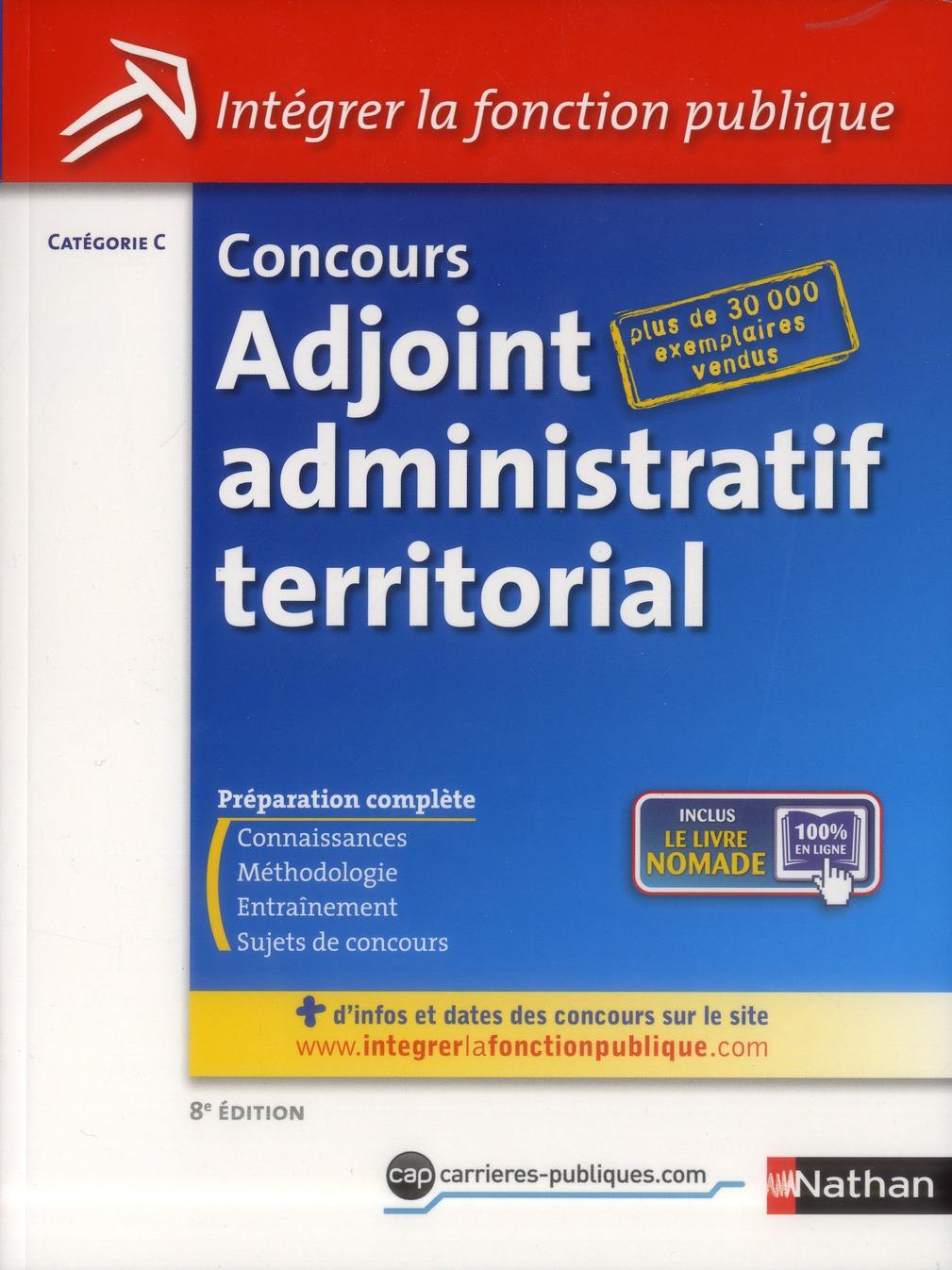 CONCOURS ADJ ADMINIST(TERRIT)