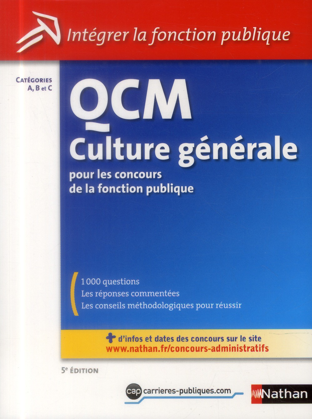 QCM CULTURE GENERALE CAT ABC