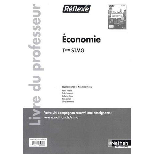 ECONOMIE TERM STMG (POCHETTE REFLEXE) PROFESSEUR - 2017