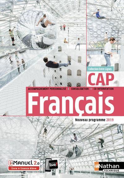 FRANCAIS - CAP (ENTRE-LIGNES) LIVRE + LICENCE ELEVE 2019