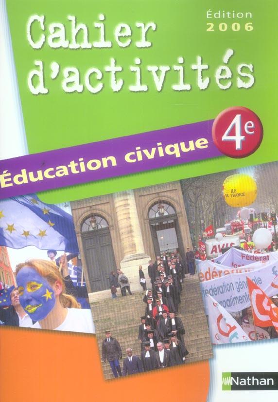 EDUCATION CIVIQUE 4E TD 2006