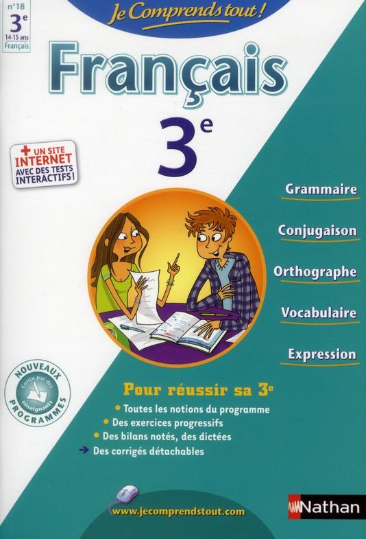 JE COMPRENDS TOUT FRANCAIS 3E