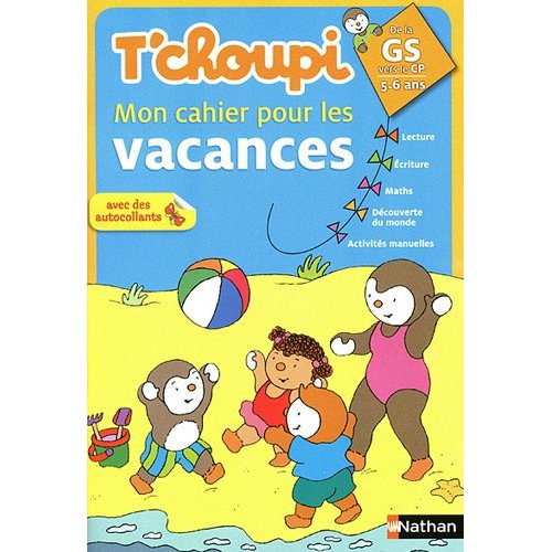 T'CHOUPI CAHIER VACANCES GS/CP
