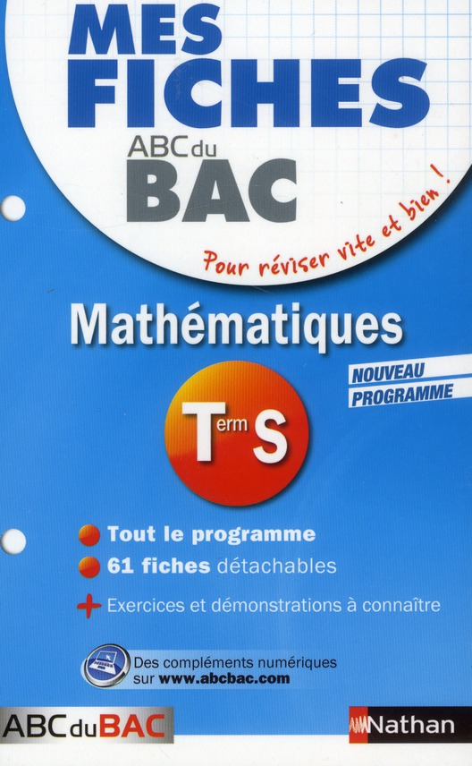 MES FICHES ABC BAC MATHS TERM
