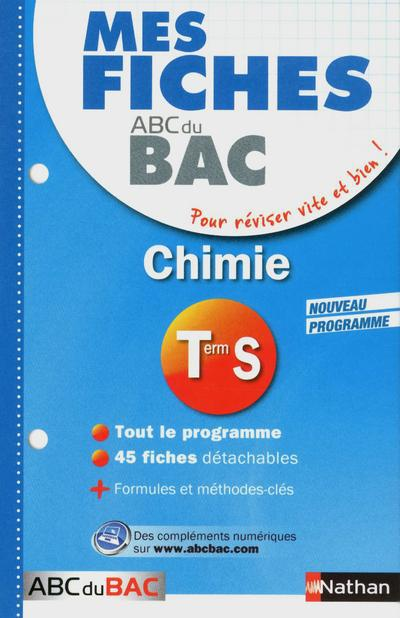MES FICHES ABC BAC CHIM TERM S