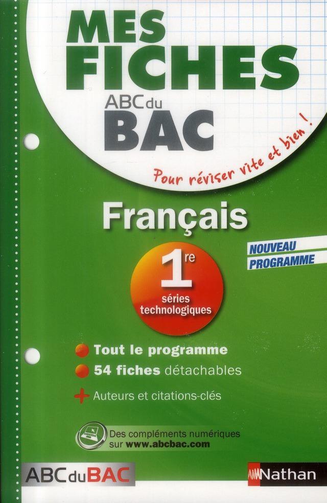 MES FICHES ABC BAC FRANCAIS 1E