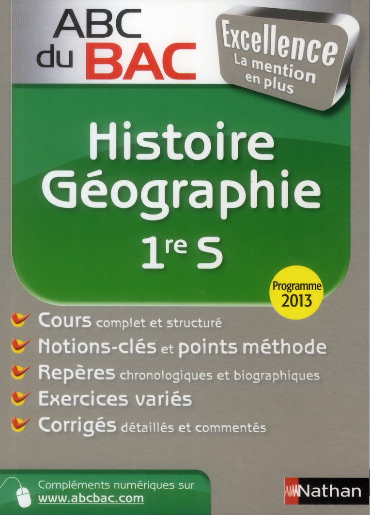 ABC BAC EXCELLENCE HIST-GEO 1S