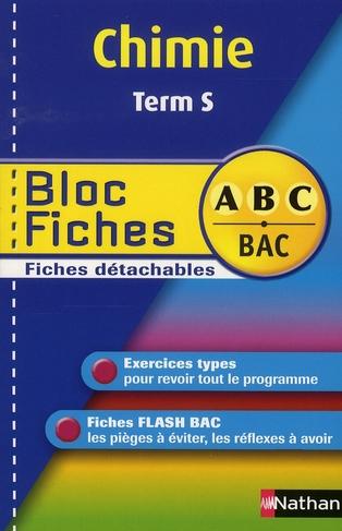 BLOC FICHES ABC CHIMIE TERM S