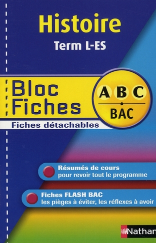 BLOC FICHES ABC HIST TERM L ES