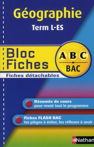 BLOC FICHES ABC GEOG TERM L ES