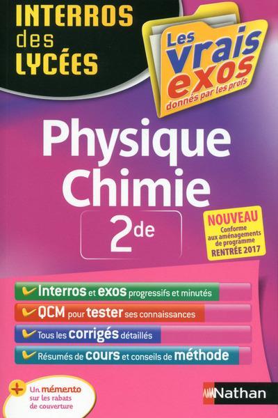 INTERROS DES LYCEES PHYSIQUE CHIMIE 2DE