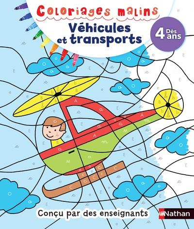VEHICULES TRANSPORTS DES 4 ANS - COLORIAGES MALINS