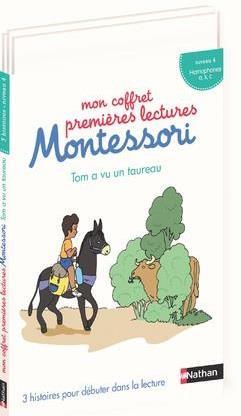 MON COFFRET PREMIERES LECTURES MONTESSORI : TOM A VU UN TAUREAU NIVEAU 4