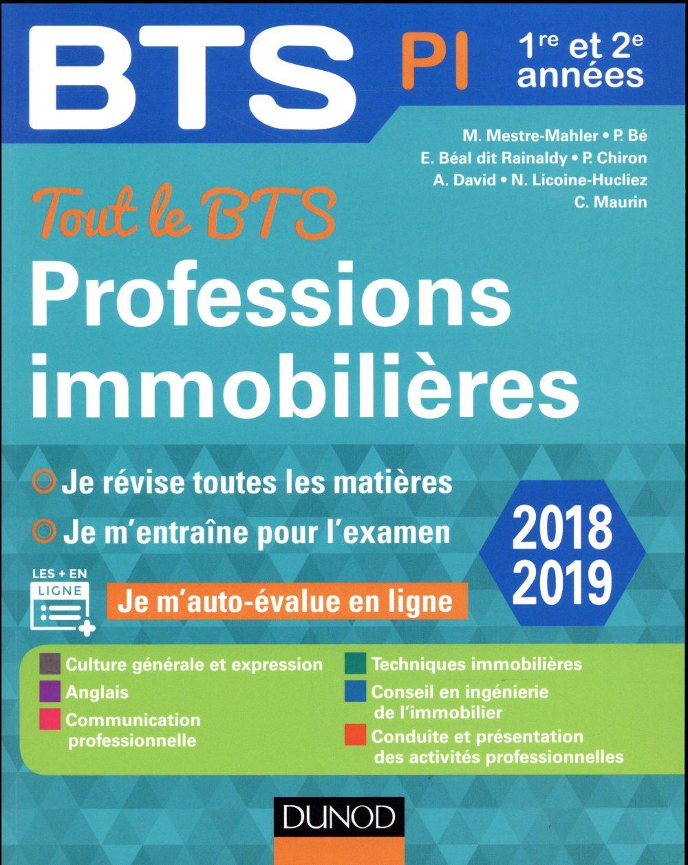 TOUT LE BTS PROFESSIONS IMMOBILIERES - 2018-2019 - 1RE ET 2E ANNEE