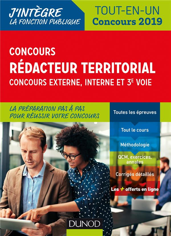 CONCOURS REDACTEUR TERRITORIAL. EXTERNE, INTERNE ET 3E VOIE. - TOUT EN UN - CONCOURS 2019 - TOUT-EN-