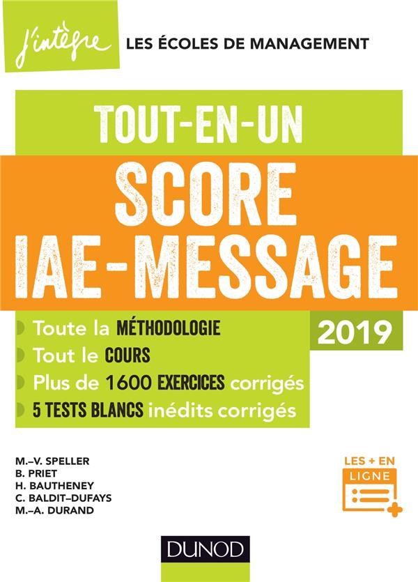 SCORE IAE-MESSAGE - 2019 - TOUT-EN-UN - SCORE IAE MESSAGE - T1