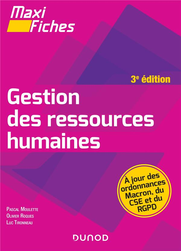 RH LICENCE - T01 - MAXI FICHES - GESTION DES RESSOURCES HUMAINES - 3E ED.